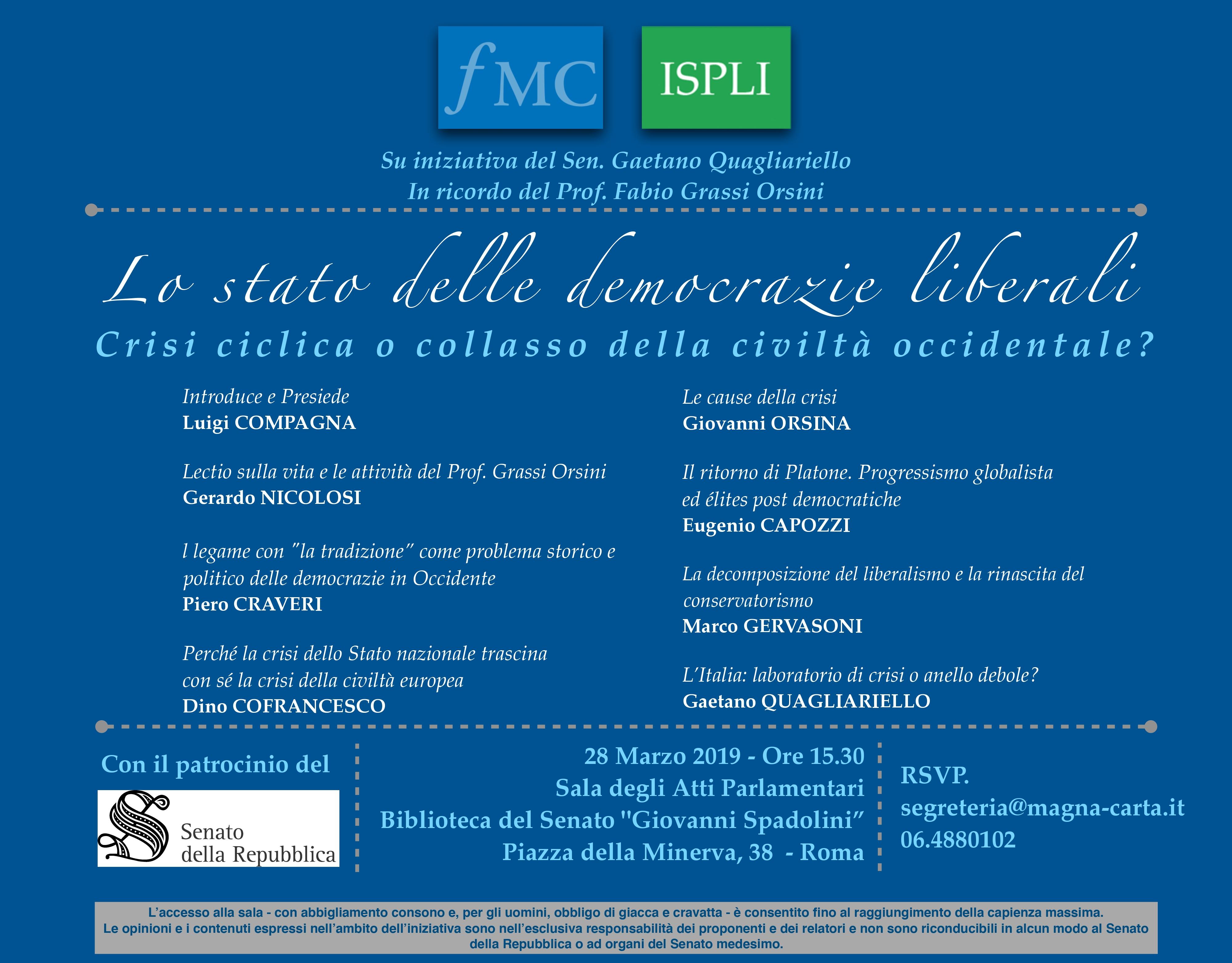 L'Ispli e Magna Carta ricordano in un convegno Fabio Grassi Orsini